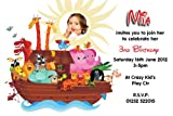 10 Personalised Noahs Ark Party PHOTO Invitations N69
