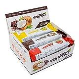 ProFuel veePRO Protein Riegel Mix Box | 12 x 74g | Glutenfrei & Laktosefrei | mit Stevia gesüßt - 100% vegan