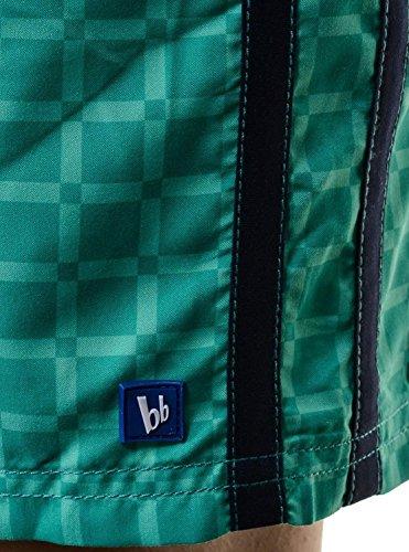 BRUNO BANANI Badeshorts Boardshorts Strandshorts Shorts Badehose grün marine kariert Grün Lila