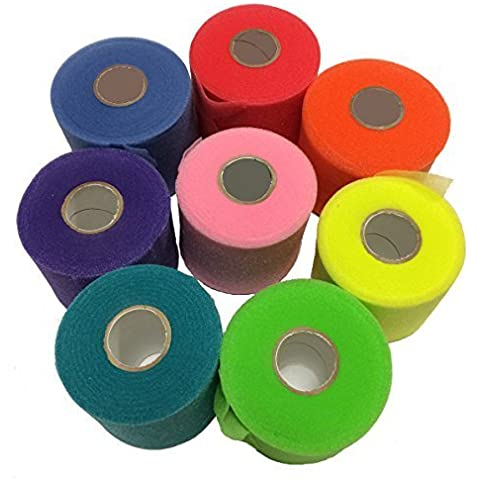 Mueller Rainbow Pack of Sports Pre-Wrap (8 colors!),30 Yards,Rainbow by Mueller - Mueller Pre Wrap