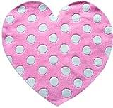 Flair Rugs Kinder Teppich in Herz-Form mit Punktemuster (90cm x 90cm) (Pink/Weiß)