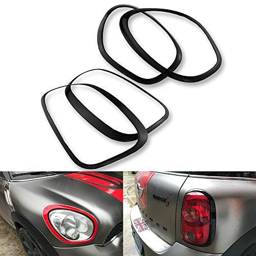 Heinmo Für Mini Cooper Countryman R60 Auto-Styling Rücklichter + Scheinwerfer Felgen Einfassungen (Black)