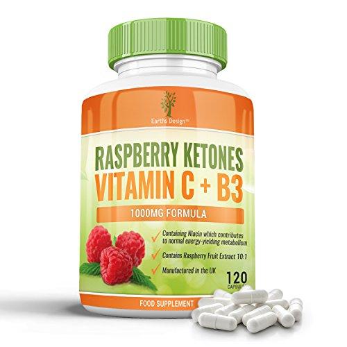 Raspberry Ketones - 1000mg With Vitamin C and Niacin