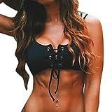 TWIFER Push-up Bikini Set Bandage BH Badeanzug Bademode Beachwear (S, X-Oberteil)