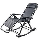 JIE KE Jack Klappschaukelstuhl mit beweglichem Schwerelosigkeits-Stuhl der Kopfstütze-im Freien für kampierenden Fischen-Strand im Freien