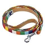 Amazingdeal365 Hundehalsband, Leder, bunt, einfarbig S