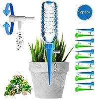 Chuanglan Macetas de riego automático, Cl, para Plantas con válvula de Control, para el Cuidado de Plantas Interiores y Exteriores (Paquete de 12)