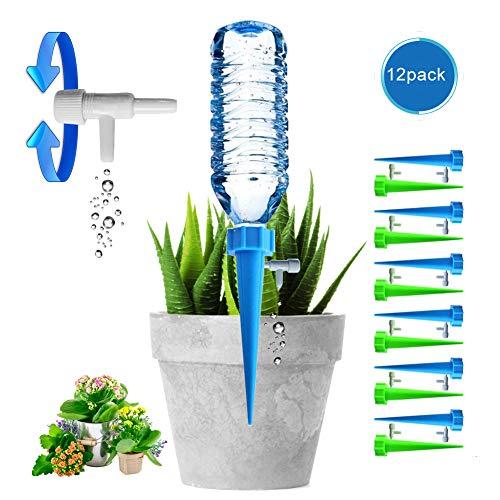 Chuanglan Pots de Fleurs d'arrosage Automatique, CL Plante appareils d'arrosage Automatique avec vanne de régulation Care Vos Plantes d'intérieur et d'extérieur (Lot de 12)