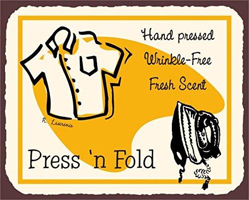 Laundry Stampa N Fold Vintage Metal Art pulizia latta metallo Tin Sign 7x 10segni in metallo vintage