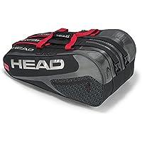 Head Elite 12r Monstercombi - Bolsa para Raquetas de Tenis, Color Negro/Rojo, tamaño Talla única