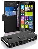 Cadorabo Coque pour Nokia Lumia 1320, Noir DE Jais Fermoire Magnétique Housse de Protection Etui Portefeuille Case Cover pour Nokia Lumia 1320 - Stand Horizontal et Fente pour Carte Poche Folio
