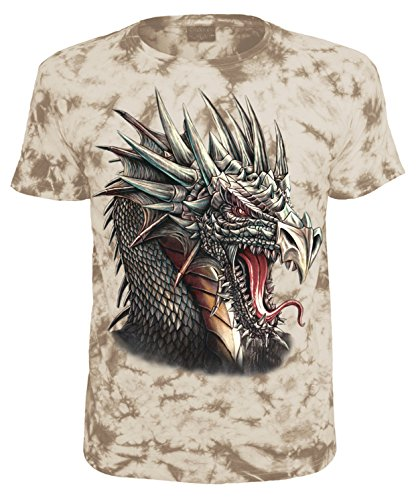 Biker T-Shirt Drachenkopf Schwarz