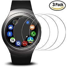 Protector de pantalla para Samsung Gear S2 reloj elegante, AFUNTA 3 paquetes vidrio templado película anti - arañazos Escudo de alta definición