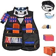 Tactical Vest Kit for Nerf Guns N-Strike Elite Series with Vest, mask, Glass,Hand Wrist Band, Clips, Darts