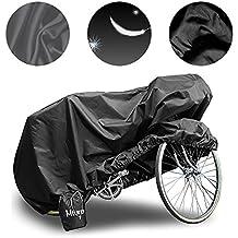 Mture fundas para bicicletas Impermeable Anti UV Cubierta para Bici cubre-bicicleta Protector contra Lluvia y Polvo para Bicicleta Motocicleta180x60x90CM - Negro