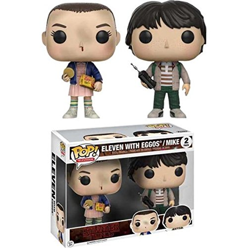 Funko Pop! Stranger Things - Pack Eleven With Eggos y Mike