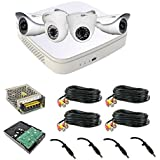 CP Plus Intelli Eye Full HD CCTV Camera Kit 2 2mp Dome, 2 2mp Bullet Camera, 1TB Hard Disk, Power Supply, 4 18m Cable With Connectors, 4 DC Pins