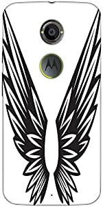 Snoogg Wings Vector Element Designer Protective Back Case Cover For Motorola ...