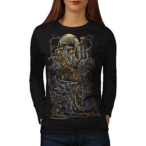 Ses UNE Fille Maman Grossesse Femme S-2XL T-shirt à manches longues   Wellcoda Noir