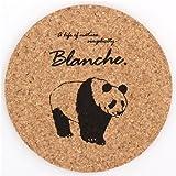 Brauner schwarzer Panda Korkuntersetzer aus Japan