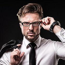 GORDESC 1 Juego de Gafas videocámaras HD 1280 x 960P Mini Cámara Eyeglass Resistente al Viento grabadora de vídeo Gafas Soporte 32 G TF Tarjeta para Uso en Interiores al Aire Libre, Color Negro