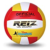 Anself Indoor Outdoor Training Volleyball with Storage Net Bag and Pumping Needle Soft Leather Volleyball for Teenager Adult