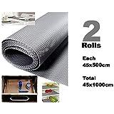 Multipurpose Textured Super Strong Anti-Slip Anti-Skid Eva Mat Liner - Size 45x1000Cm (2 Rolls Of 5 Meters) - Grey