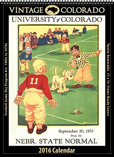 Colorado Buffaloes 2016 Vintage Football Calendar