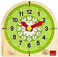 Goula - Reloj escolar de madera (Diset 55125) de Diset