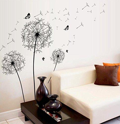Madaye Schwarz Pu Gongying Romance PVC Wohnzimmer Schlafzimmer Wandaufkleber