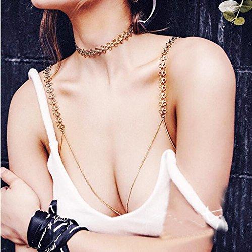 Sharplace Catenina Corpo Ombelico Elegante Petto Reggiseno Bikini Stile Monili Gioielleria Pendente Ragazze Abbigliamento Vestiti Estate #1