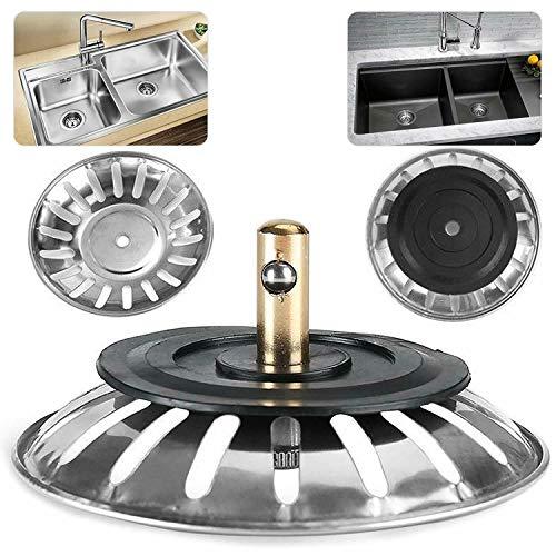 Splinktech Abflusssieb für Küchenspüle, 78 mm, Edelstahl, Ersatzablauf für Bad, Waschbecken, Dusche, Badezimmer