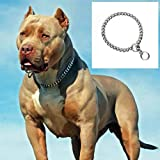 #4: PnM Chrome Plated Dog Choke Chain Dog Collar Chain Choke Chain Training Collar Training Chain - 22 Inch Collar / 2 cm Thick