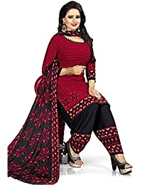 Salwar Suits Material Below 500 Unstitched Desi Hault Suit For Womens Party Wear Printed French Crepe Dress Material...