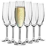Krosno Flute Cristal de Champagne Verre | Lot de 6 | 200 ML | Collection Venezia |...