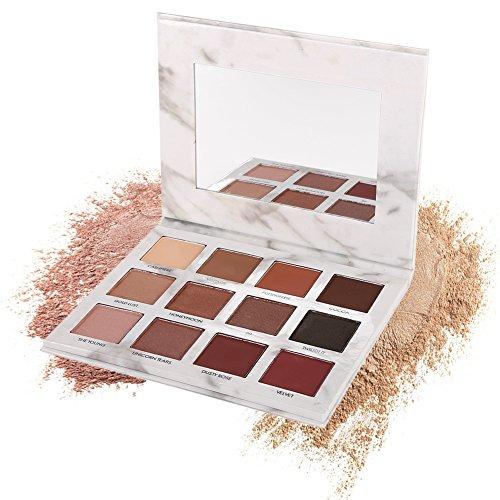 Allbesta 12 Farben Lidschatten Pallete Marmor Kollektion Matte Glitter Natürliche Pigment Lidschatten
