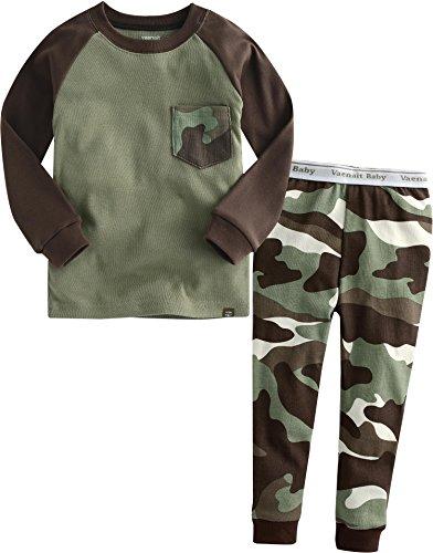 Vaenait Baby Säugling Kinder Langarm zweiteilige Schlafanzüge Set Pocket Camo S (Säuglings-camo-kleidung)