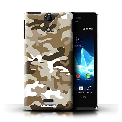 Kobalt® Imprimé Etui / Coque pour Sony Xperia V/LT25i / Rose 3 conception / Série Armée/Camouflage Marron 1