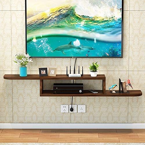 Regal An der Wand montierte Medienkonsole TV-Konsole Home Media Unterhaltungsspeicher Ablage Floating TV Satnd Hanging Entertainment Rack for Kabelboxen Router Fernbedienungen DVD-Player Spiel (Wand Dvd Player Regal)