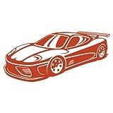Wandtattoo Super Sportwagen Wandaufkleber Rennauto Rennwagen Wandsticker in 8 Größen und 25 Farben (70x33cm kupfermetalleffekt)