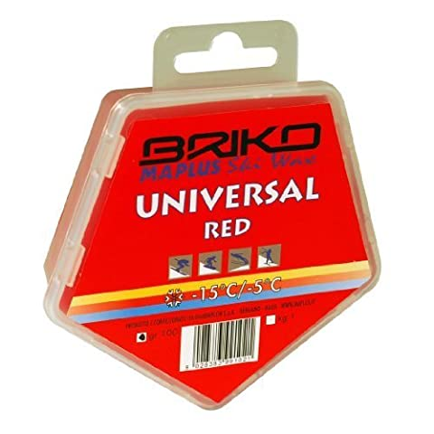 Briko-Maplus Universal Red Ski and Snowboard Wax by Briko-Maplus