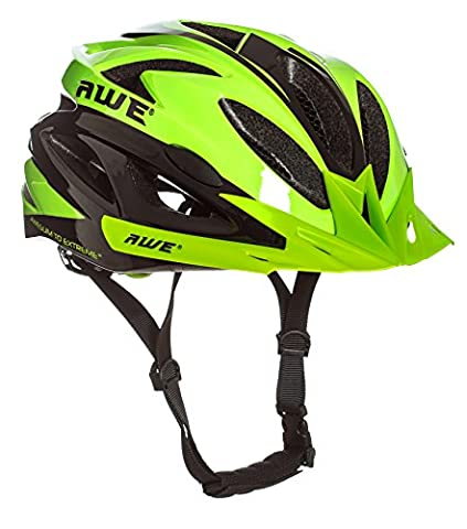 AWE® AWEAir™ FREE 5 YEAR CRASH REPLACEMENT* In Mould Adult Mens Cycling Helmet 58-61cm Green, Black