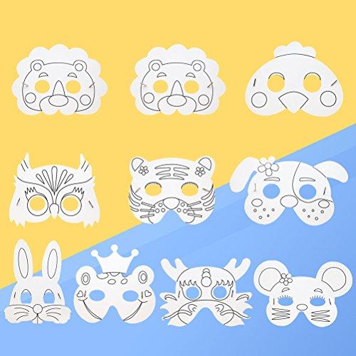 STOBOK 10 stücke Kinder Tier Maske Handwerk Masken -