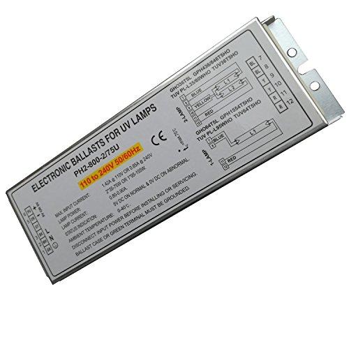 150W keimtötende Lampe elektronischen vorschaltgeräten für UV-Lampe gho36t5l gph436/846t5ho TÜV pl-l35/60who tuv36t5ho, PH2-800-2/75U, 2Stück -