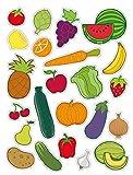 Apli Kids Sporttasche Stickern frutas-verduras (11451)