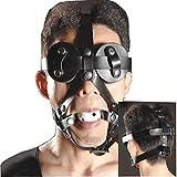 Loveours Augenmaske SM Mund knebel Beißenknebel Gag Kopfgeschirr Fetish Face Bondage Kit