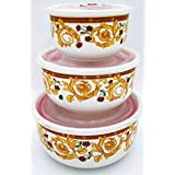Smart Dinning Ceramic Serving Bowl- Set Of 3-PC - Microwave Safe