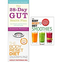 Gut health plan, body reset diet and smoothies 3 books collection set