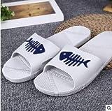Qsy shoe Sandalen und Pantoffeln verbinden PVC-Bad-Normallack-Heim-Männer, Fischgrätengrau, 36-37