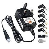 Powseed 12w Power Supply Transformer Multi Voltage Switching Tips 3V 4.5V 5V 6V 7.5V 9V 12V for LED Strip CCTV Camera Raspberry Pi 2 3